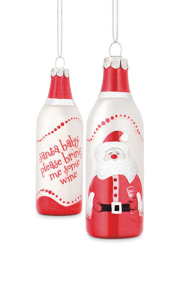 Santa Baby Wine Bottle Ornaments