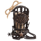 The Original CORK CAGE® - Cowboy Boot Ornament