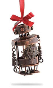 The Original CORK CAGE® - Robot Ornament