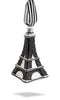 Eiffel Tower Glass Ornament - Black
