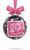 XOXO Wine Glass Bulb Ornament
