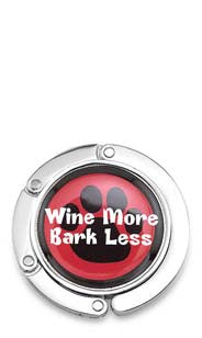Wine More, Bark Less Purse Hook