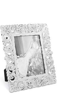 White Scroll Picture Frame