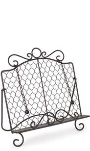 Chicken Wire Cookbook Stand