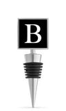 Monogram B Enamel Bottle Stopper
