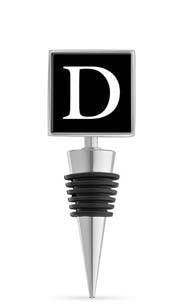 Monogram D Enamel Bottle Stopper