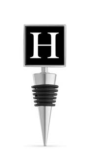 Monogram H Enamel Bottle Stopper