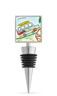 Wine Shack Enamel Bottle Stopper