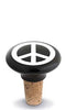 Black & White Peace Sign Ceramic Bottle Stopper
