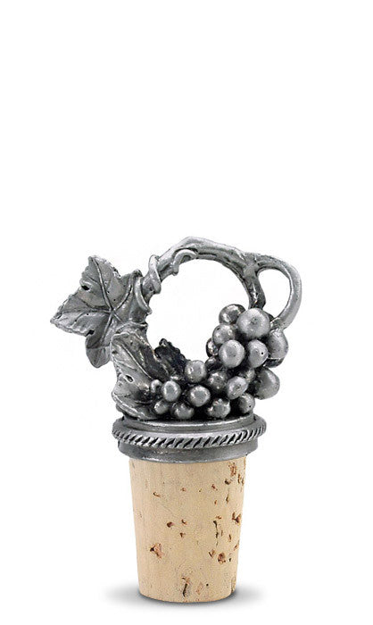Grapevine - Pewter Bottle Stopper