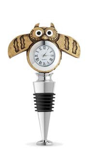 Owl Watch Bottle Stopper