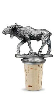 Moose - Pewter Bottle Stopper
