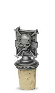 Skull - Pewter Bottle Stopper