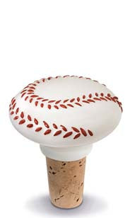 Baseball Ceramic Bottle Stopper