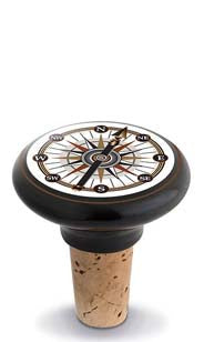 Compass Ceramic Bottle Stopper
