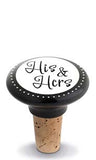 His & Hers Ceramic Bottle Stopper