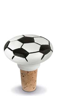 Soccer Ceramic Bottle Stopper