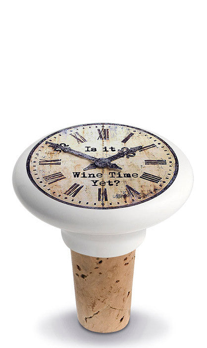 Wine Time Yet? Ceramic Bottle Stopper