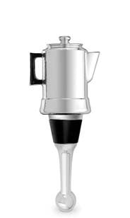Coffee Pot Bottle Stopper