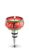 Let's Get Lit Glass Tealight Bottle Stopper