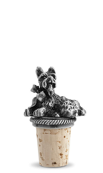 Scottie Dog Pewter Bottle Stopper