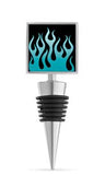 Blue Flames Enamel Bottle Stopper