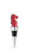 Knight Chess Bottle Stopper - Red