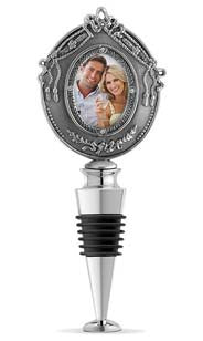 Metal Photo Frame Bottle Stopper