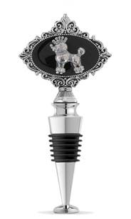Princess Poodle Jeweled Bottle Stopper