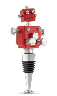 Red Robot Bottle Stopper