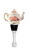 Floral Teapot Bottle Stopper