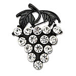 Black Grapes Brooch - Large