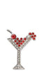 Holiday Martini Brooch