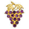 Glamour Grape Brooch