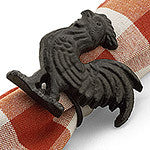 Cast Iron Rooster Napkin Ring