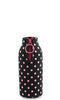 Black with Pink Polka Dots Neoprene Beer Bottle Epicool