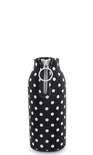Black with White Polka Dots Neoprene Beer Bottle Epicool™