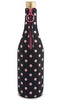 Black with Pink Polka Dots Neoprene Wine Bottle Epicool™