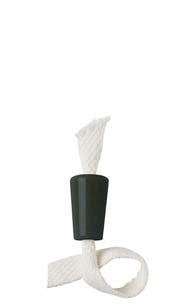 Ceramic Bottle Candle™ with Wick - Black