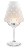 Polka Dot Wine Glass Lampshades