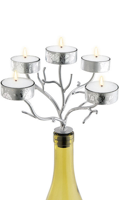 Silver Branches Candelabra - 5 Tealights