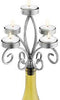Silver Scroll Wine Bottle Candelabra