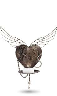 Heart Factory Candle Wall Sconce