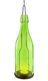 Green Wine Bottle Lantern - Large