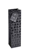 Black Reptile Recycled Paper Bottle Gift Bag