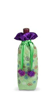 Gone Whimsy Suede Bottle Gift Bag