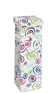 Whimsy Swirl Recycled Paper Bottle Gift Box