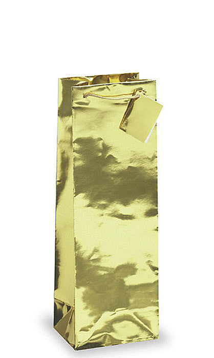 Gold Metallic Foil Wine Bottle Gift Bag