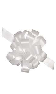 White Pull String Bow