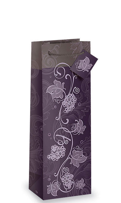 Purple Grapevine Bottle Gift Bag